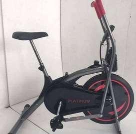 Alat gym fitness sepeda statis platinum bike black