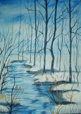 water colour painting landscape  ,length-15 inch     ,breath-11inch