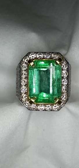 Natural Zamrud Colombia emerald beryl gold diamond