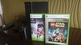 Xbox 360 E 4GB With Kinect And Four Gaming CD's