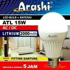 Arashi Bohlam Lampu Ajaib Lampu Emergency LED ATL- 15 watt
