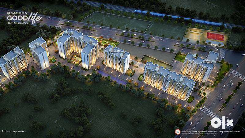 at ₹28.4 Lakh, (all inclusive),2 BHK Flats for Sale in MIDC Rd Katvi , 0