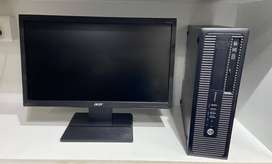 """HIGH Configuration HP i5 6th Gen Computer Set with 20"""" LED"""