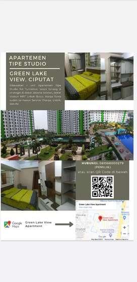 DISEWAKAN STUDIO - GREEN LAKE VIEW - Furnished (Exc SC, air & listrik)