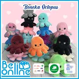 Boneka Gurita Bolak Balik Mainan Anak Bayi Boneka Octopus Tik Tok