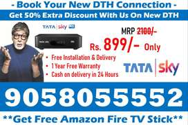 New DTH Connection~ Tata Sky, Dishtv Airteltv Tatasky Book Your DTH !!