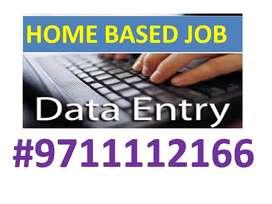Genuine Part time ONLINE/OFFLINE Home based Data entry job-4to8k/week