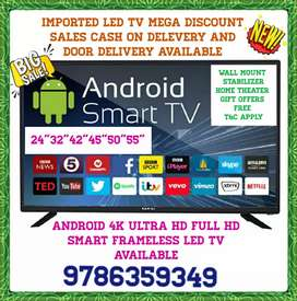 """IMPORTED LED TV SMART ANDROID 4K ULTRA HD FULL HD 24""""32""""42""""45""""50""""55"""""""