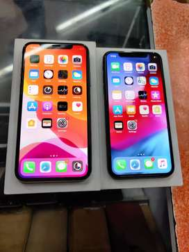 Apple iPhone X with box full kit in Grey and Silver.