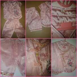 Baju QP70 imlex pink untuk anak dengan model setelan bagus dan Cantik