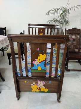 Baby cot Real wood good quality solid