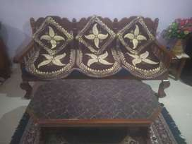 wooden sofa, dealwith cash only