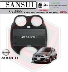 Head Unit Sansui 9IN SIMCARD RAM 2GB ROM 32GB MARCH 2010