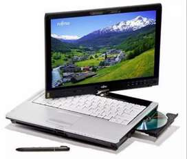 Fujitsu laptop+tablet with touch pen
