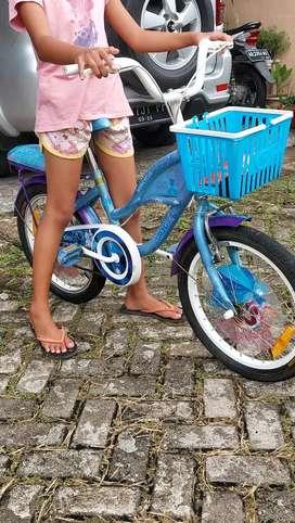 Dijual sepeda anak wim cycle blue model cinderela