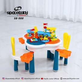 Meja mainan lego anak multifungsi