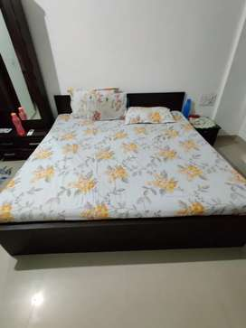 Modern Foldable king size bed with storage