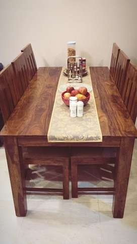 Brand new stylish wooden 6 seater dining table