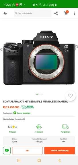 Kamera sony A7II pembelian 2bln jarang dipakai