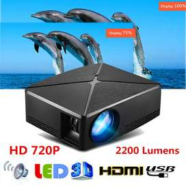 Portable Full HD Projector?Compatible with Multimedia