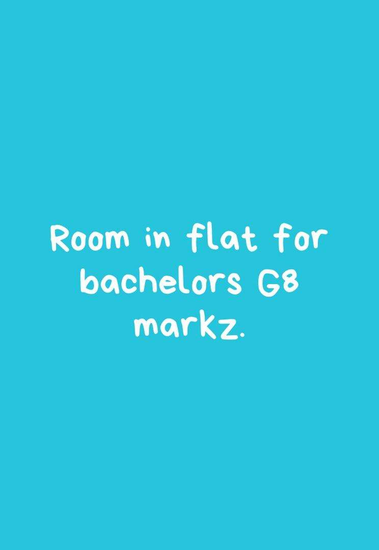 Room for bachelors in g8 mrkz 0
