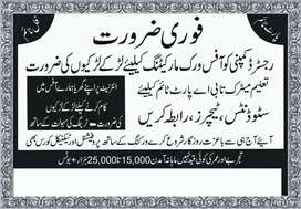 Online working job available