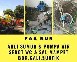Sumur bor gali suntik servis service pompa air sedot wc mmampet