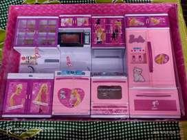 Barbie dream house kitchen set for kids