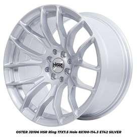 stock terbaru hsr wheel type Oster ring 17 silver