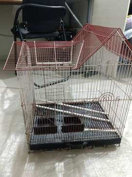 "Cage for small birds. Size 2' x 1'6"" approx."