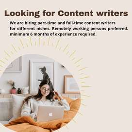 Urgent need of content writers