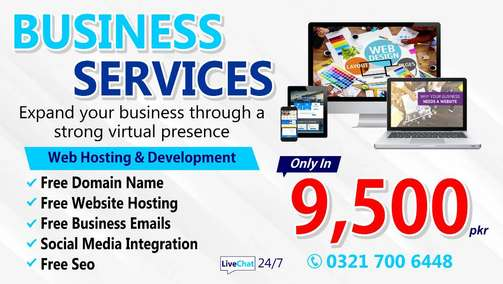 Professional Website Development With Domain Hosting Just 9,500-/ Rs