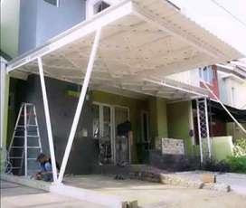 @84 canopy minimalis rangka tunggal atapnya alderon pvc bikin nyaman