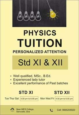 Physics teacher available