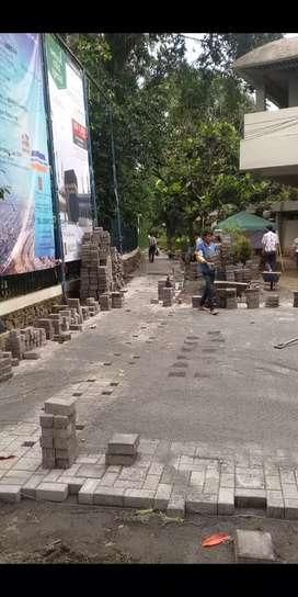Pemasangan paving blok