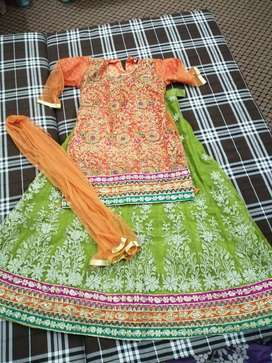 Lehenga shirt and dupatta 36 size