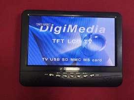 TV Digimedia 10inch kondisi normal