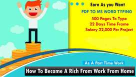 Data entry work home based join now