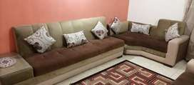 Brand new L shape 7 seater sofaset with side table instlled with sofa