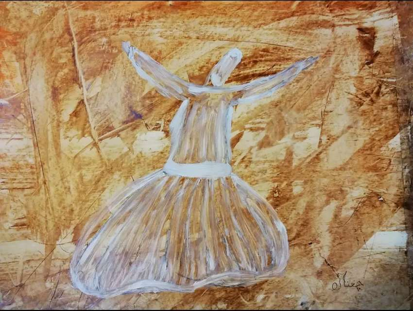 Oil Painting of Sufi 0