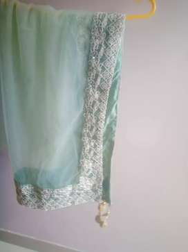 Ravishing sea green party wear gown