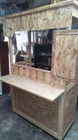 Booth gerobak  pinus