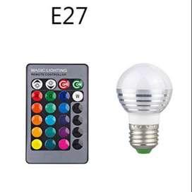 Lampu Bohlam LED RGB 3W 16 Colors E27 + Remote Control