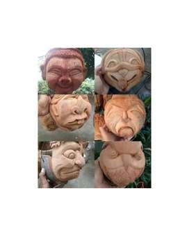 pot sabut kelapa motif berbagi ukuran pot ukir kelapa hias