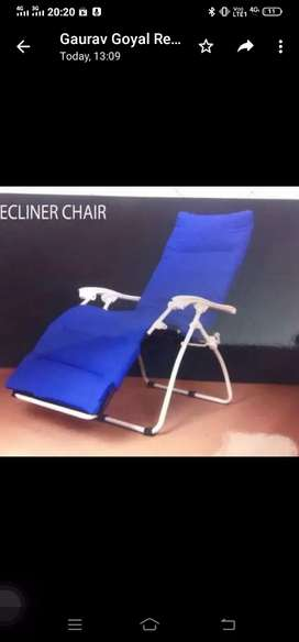 Recliner folding chair