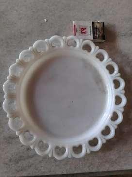 Piring Kristal Sabun Besar Model Krawangan Kuno Antik