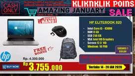 Laptop bisnis HP Elitebook 820 SSD