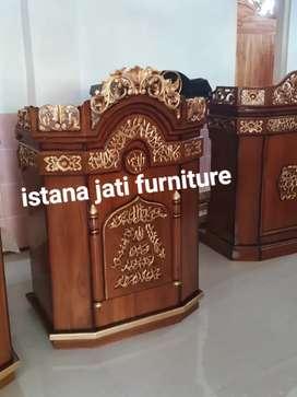 Ready stock siap kirim Mimbar masjid podium Free ongkir