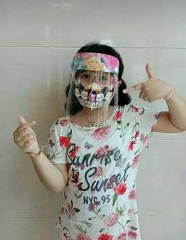 Face shield kacamata anak