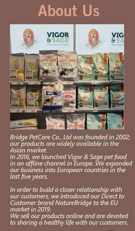 NATURE BRIDGE DOG FOOD. NATURE BRIDGE PET GOOD.